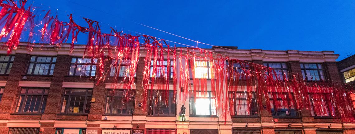 Light installation for Clerkenwell Design Week