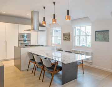 lighting in a kitchen