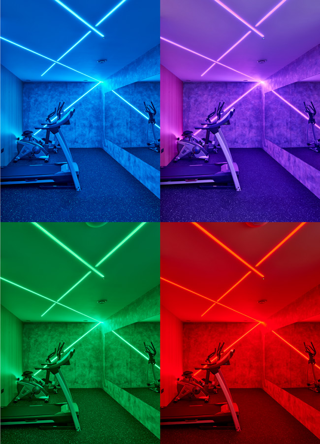 colour change gym lighting