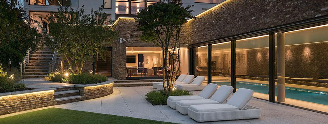 photo of garden lighting design