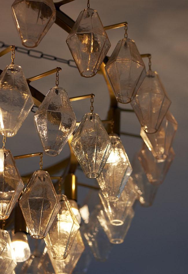 Restaurant feature chandelier
