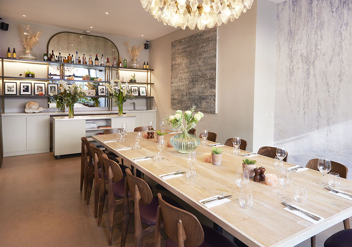 lighting in private dinning room